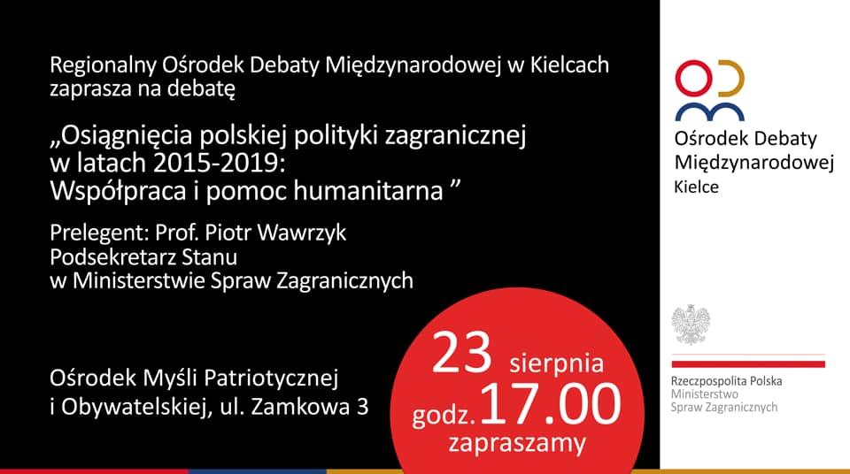 Osiągnięcia polskiej polityki zagranicznej: Pomoc humanitarna