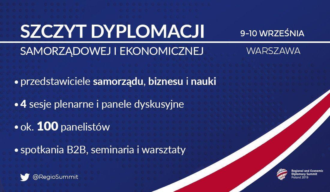 Szczyt Dyplomacji Samorządowej i Ekonomicznej w Warszawie