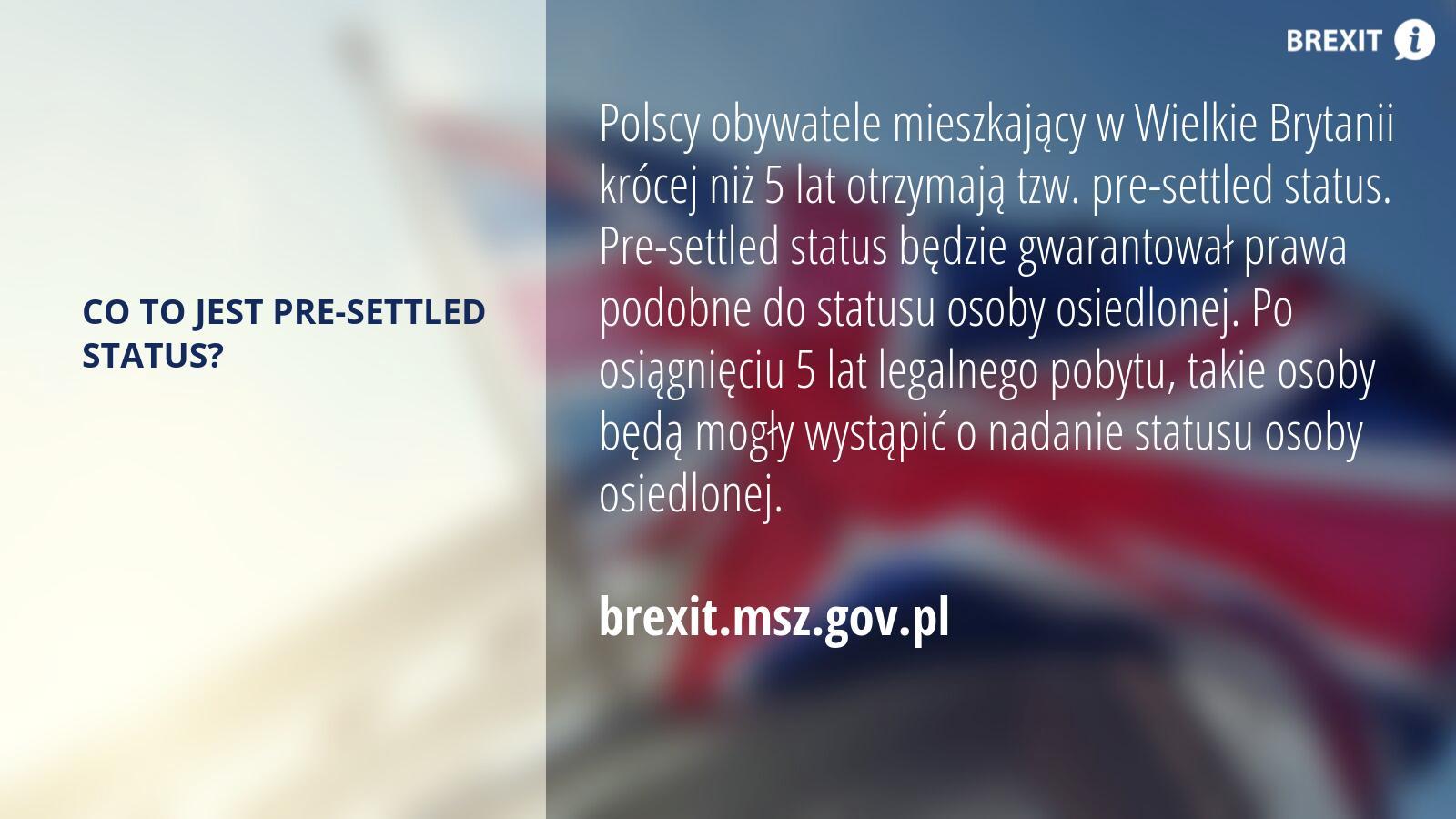 Pre-settled status w Wielkiej Brytanii.