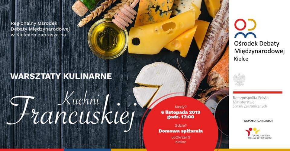 Za nami warsztaty kulinarne kuchni francuskiej.