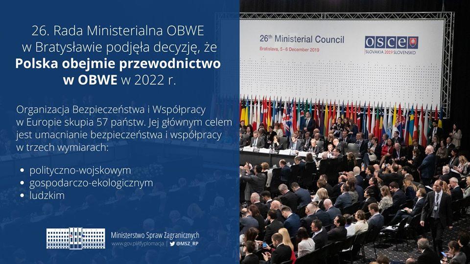 Polskie przewodnictwo w OBWE w 2022 roku.