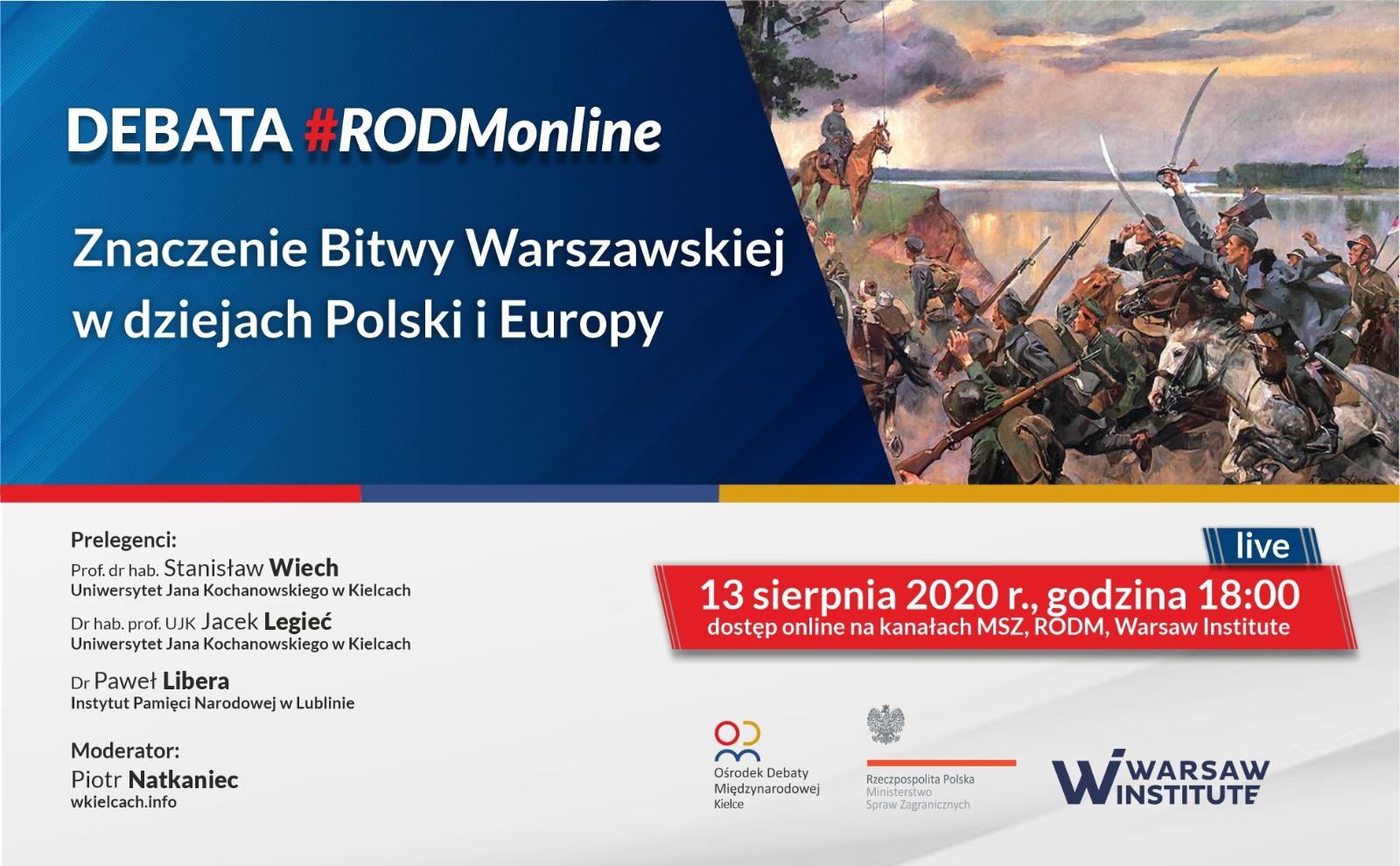 Znaczenie Bitwy Warszawskiej w dziejach Polski i Europy